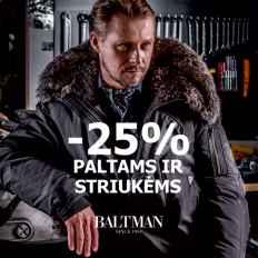 BALTMAN akcija paltams