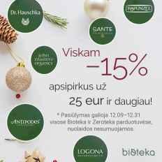 BIOTEKA kalėdinės akcijos